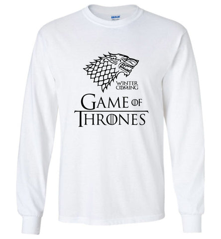 Game Of Thrones LS T-Shirt Drama TV Series Men Long Sleeve T-Shirt Multicolor - Sport Fun Shop