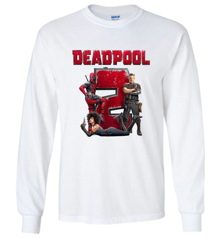Marvel Deadpool 2 T Shirt Super Duper American Movie Men Long Sleeve T-Shirt - Sport Fun Shop