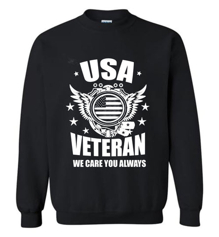 U.S Army T Shirt Proud Of American Veteran Tee Mens Sweatshirt