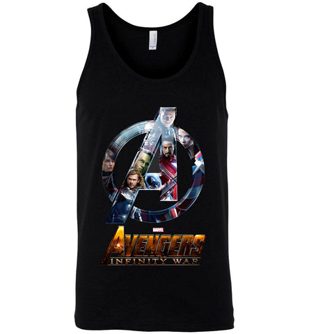 Marvel Avengers 3 Infinity War T Shirt Superheroes Men Women Black Tank Top - Sport Fun Shop
