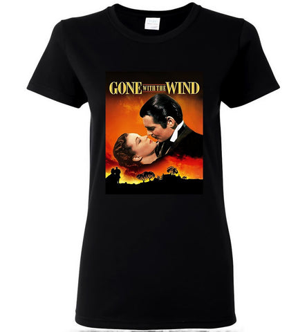 Gone With The Wind T-Shirt American Classic Romance Film Tee Women T-Shirt - Sport Fun Shop