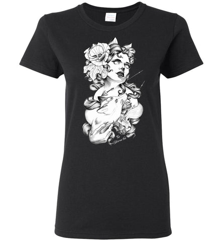 The Extreme Fox, Mystery Dark Forest Story, Women T-Shirt, Graphic T-Shirts - Sport Fun Shop