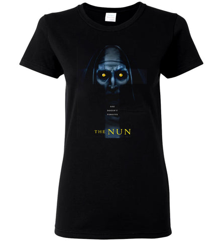The Nun T Shirt American Horror Thriller Movie Nice Women Black T-Shirt