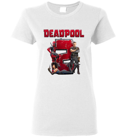 Marvel Deadpool 2 T Shirt Super Duper American Comic Fiction Movie Women T-Shirt - Sport Fun Shop