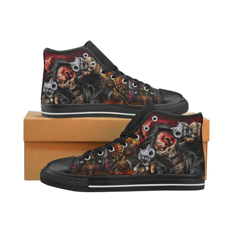 Five Finger Death Punch Shoes Men's Classic High Top Canvas Shoes (Black) - Sport Fun Shop