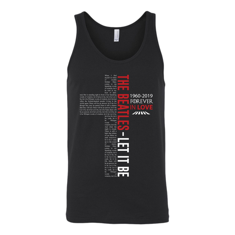 The Beatles T Shirt Let It Be Lyrics New Tee Music Gifts For Fan Men Tank Top - Sport Fun Shop