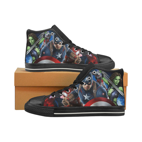 Marvel Captain America Men's Sport Running Shoes Men High Top Canvas Shoes - Sport Fun Shop