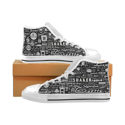 Car Brands Famous Logo Men High Top Canvas Sneakers Athletic Shoes - Sport Fun Shop