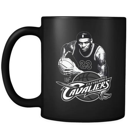LeBron James Cleveland Cavaliers 23 Cavs Basketball, Black Coffee Mug, Tea Cup - Sport Fun Shop