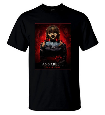 Annabelle Comes Home T-Shirt American Supernatural Horror Movie Tee Men T-Shirt
