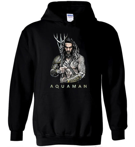Aquaman Jason Momoa Hoodie Superhero DC Comics Movies Tee Men Hoodies - Sport Fun Shop