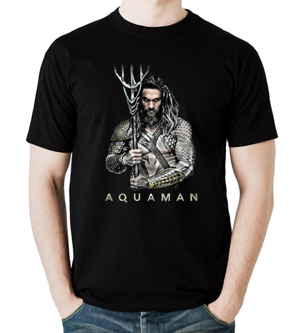 Aquaman T Shirt Jason Momoa Superhero DC Comics Movies Men T-Shirt Size S-4XL - Sport Fun Shop