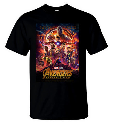 Marvel Avengers Infinity War T Shirt Gauntlet Thanos Captain America Men T-Shirt - Sport Fun Shop