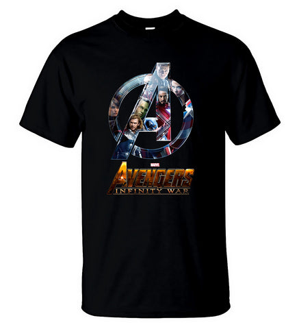 Marvel Avengers 3 Infinity War T Shirt Superheroes Clothes Men Black T-shirt - Sport Fun Shop