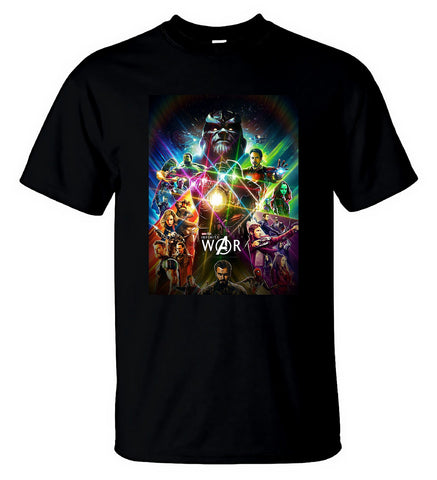 Avengers Infinity War T Shirt Thanos Gauntlet Men Tee Black T-Shirt For Men - Sport Fun Shop