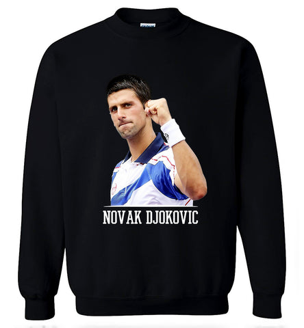 Novak Djokovic Sweater Serbian World Tennis Legend Star Men Crew Neck Sweatshirt - Sport Fun Shop