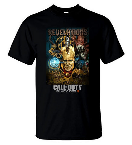 Call of Duty Black Ops 3 Zombie Revelations DLC Funny Tee Black T Shirt For Men - Sport Fun Shop