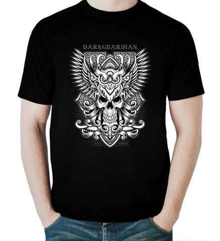 Dark Guardian Men Awesome T Shirt Angel Guard Tee Nice Black T-Shirt For Men - Sport Fun Shop