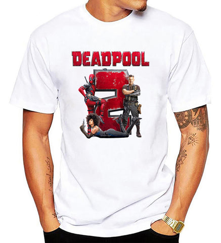 Marvel Deadpool 2 T Shirt Super Duper American Comic Fiction Movie Men T-Shirt - Sport Fun Shop