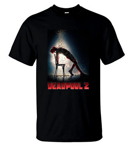 Deadpool 2 T Shirt New Marvel Movie 2018 Tee T-Shirt Men Black Size S-5XL - Sport Fun Shop