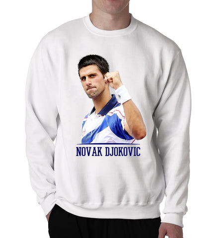 Novak Djokovic Sweater World Tennis Legend Star Sports Men Crew Neck Sweatshirt - Sport Fun Shop