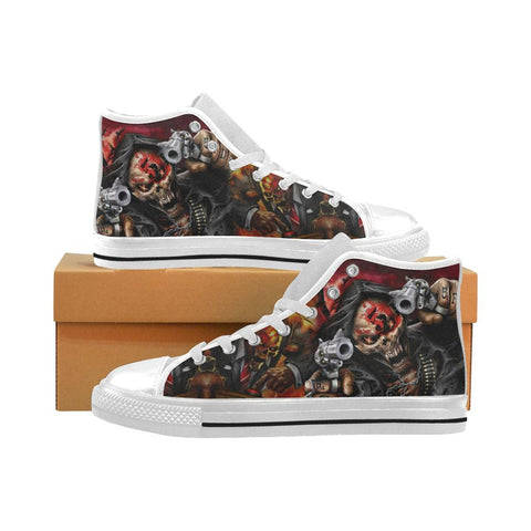 Five Finger Death Punch Shoes Men's Classic High Top Canvas Shoes (White) - Sport Fun Shop