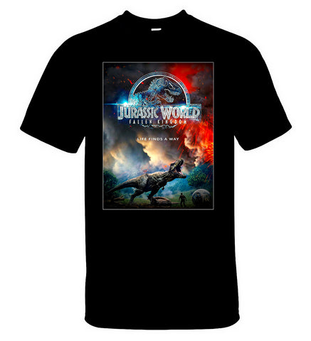 Jurassic World Fallen Kingdom T Shirt Men Tee Dinosaur Movie T-Shirt - Sport Fun Shop