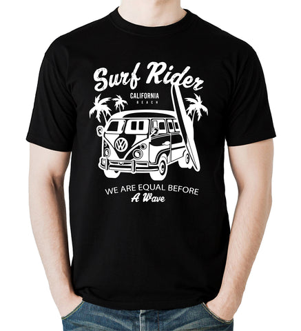 Surf Rider California T-Shirt Summer Holiday Vacation Gift Men T-Shirt S-5XL