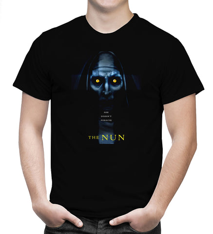 The Nun T Shirt The Conjuring Universe American Horror Film Movie Men T-Shirt - Sport Fun Shop