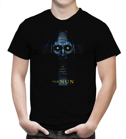 The Nun T Shirt American Horror Thriller Movie Nice Men Black T-Shirt Size S-5XL - Sport Fun Shop