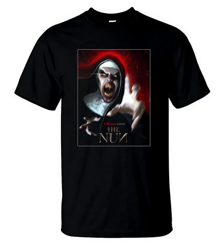 The Nun T Shirt The Conjuring Series American Horror Movie Tee Men T-Shirt