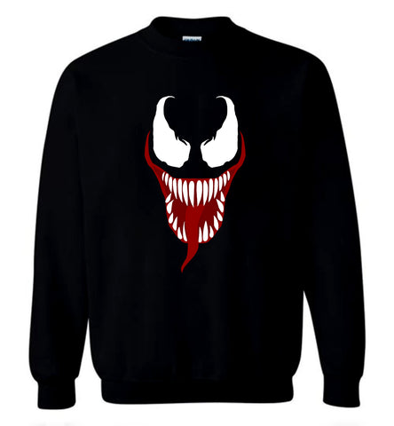 Venom T Shirt 2018 Marvel Horror Thriller Movie Tee Men Sweater Sweatshirt