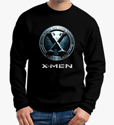 X-Men T Shirt Xavier's School Super Heros Sweater Men  Sweatshirt