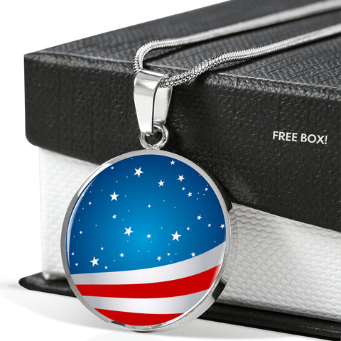 US Flag Necklace American Patriot Jewelry Gold Silver Luxury Necklaces - Sport Fun Shop