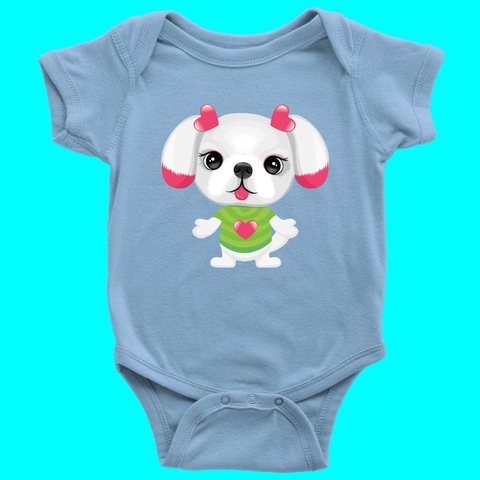 Cute Puppy Funny Dog Novelty Baby Boy Girl Clothing One-Pieces Bodysuit - Sport Fun Shop
