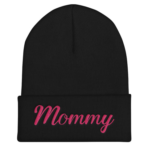 Mommy Family Gift Fall Winter Fashion, HQ Warmer Embroidered Cuffed Beanie - Sport Fun Shop