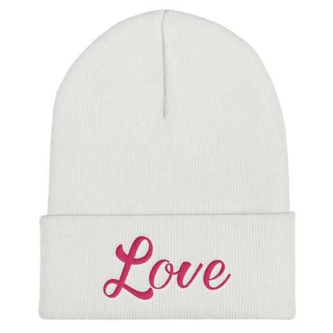 Love Gift Fall Winter Fashion, HQ Warmer Embroidered Cuffed Beanie - Sport Fun Shop