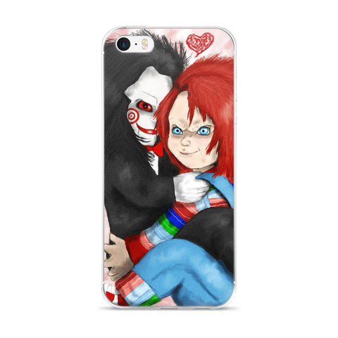 Chucky And Jigsaw Become Best Friends, iPhone 5/5s/Se, 6/6s, 6/6s Plus Case - Sport Fun Shop