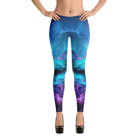 Abstract Psychedelic Nebula Space Cut & Sew Handmade Leggings - Sport Fun Shop