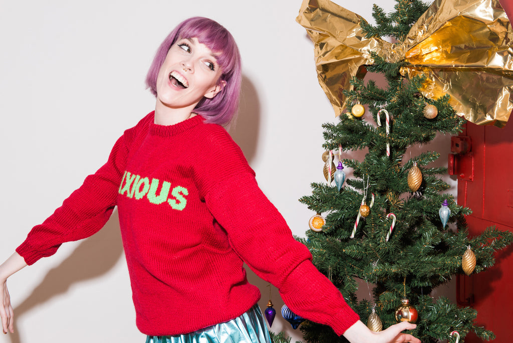 Anxiety UK x Beki Rymsza: Anxious Christmas Jumper