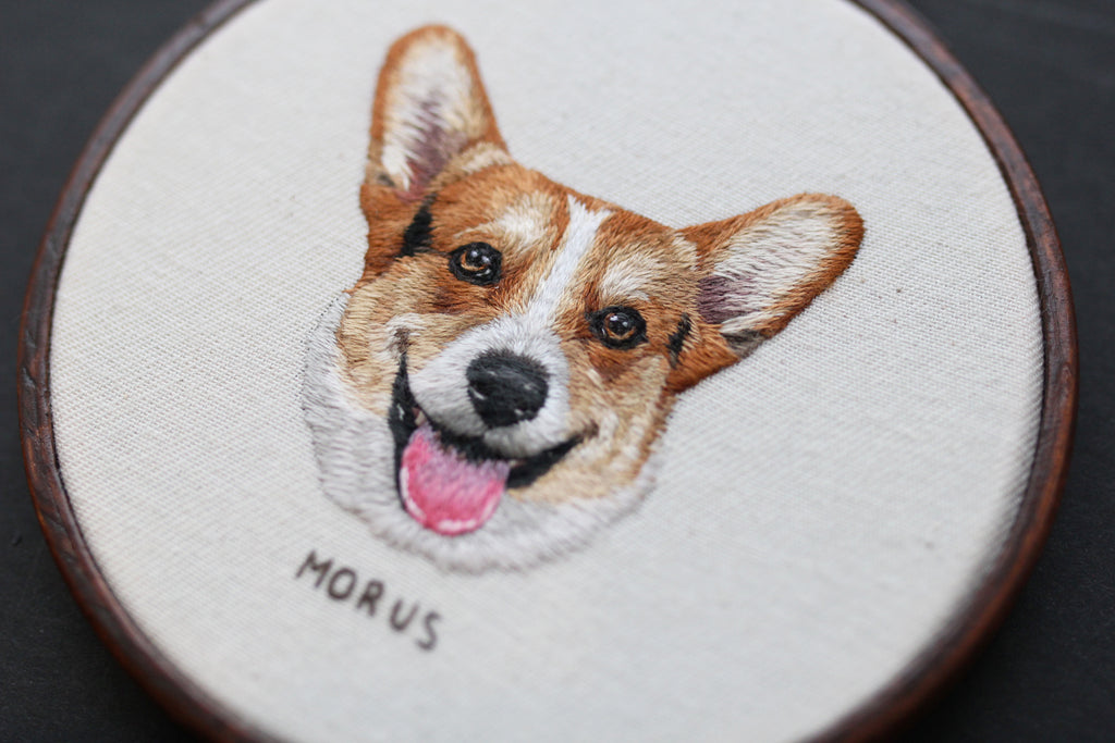 Morus Monthly: Embroidered Pet Portraits by Emillie Ferris