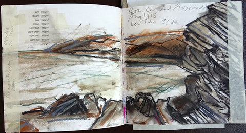 An example of Jane Cockyane's sketchbook work