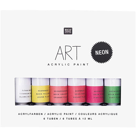 Art Acrylic Set Neon 6 x 12ml