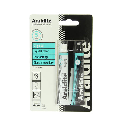 Araldite Crystal Tubes 15ml x 2