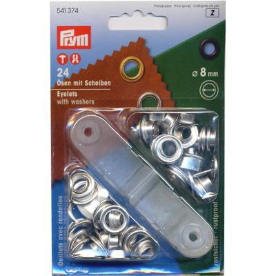 Eyelets+Washers 8mm N/P
