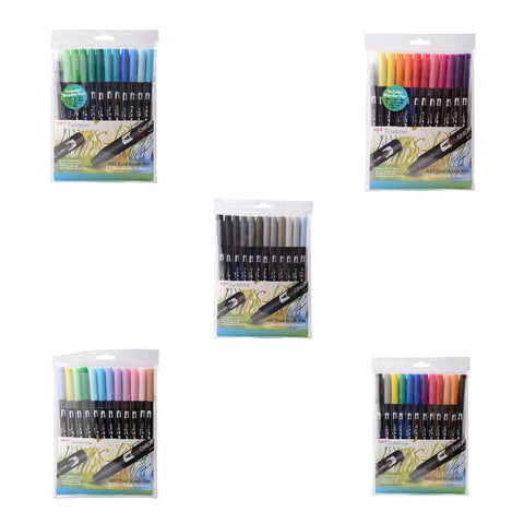 Dual Brush Pens - 12 Per Pack