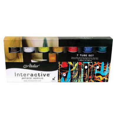 Atelier Interactive Acrylic 7 x 80ml Tube Boxed Set