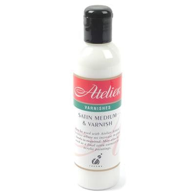 Atelier Satin Medium & Varnish 250ml