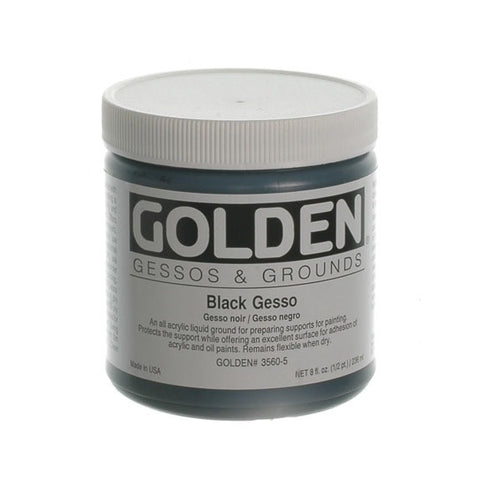 Golden 236ml Black Gesso