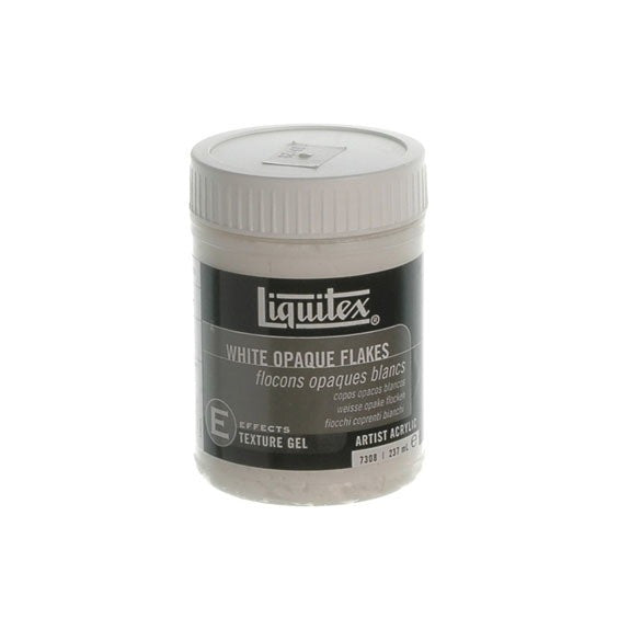 Liquitex Texture Medium White Opaque Flakes 237ml 7308